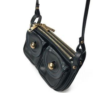 Marc Jacobs Navy Front Pocket Mini Crossbody Bag